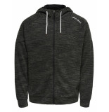 First Ethan sweat zip hood 040026 antraciet