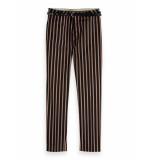 Maison Scotch 149899 98 classic tailored pants, sold with a belt combo s zwart
