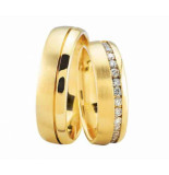Christian Gouden trouwringen met 37 diamanten geel goud