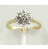Christian Stervormige diamanten ring geel goud