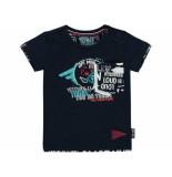 Quapi Shirt korte mouw richardnavy navy blauw