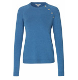 mbyM Zoja freeman knit bright cobalt melange blauw