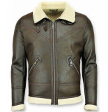 Wareen W Lammy coat heren zwart