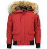 Enos Korte winterjas rood