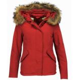 TheBrand Korte winterjas dames rood