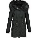 Z-design Dames winterjassen zwart
