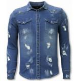 Diele & Co Denim shirt blauw