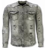 Diele & Co Denim shirt grijs