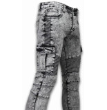 New Stone Exclusieve ripped jeans grijs