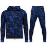 CABAN Exclusive windrunner camo trainingspakken blauw