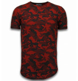 Berry Denim Casual camouflage pattern rood