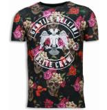 Gentile Bellini Skulls and roses zwart