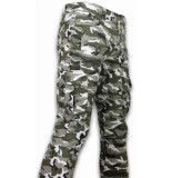 New Stone Exclusieve ripped jeans wit