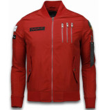 David Copper Bomberjack heren rood