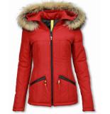 Milan Ferronetti Winterjassen rood