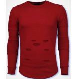 John H Ribbel schoulder trui rood