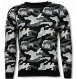 John H Military trui grijs