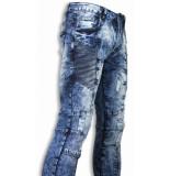 Justing Exclusieve biker jeans blauw