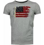 Bread & Buttons Usa vlag borduur grijs