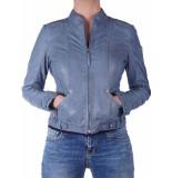 Gipsy Macy ladav leder jacket blauw