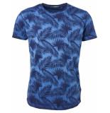 No Excess T-shirt s/sl, r-neck, ao print, ins indigo blue blauw