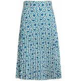King Louie Border plisse skirt blauw