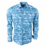 Ferlucci Heren overhemd bloemen calabria stretch groen