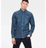 G-Star 3301 slim shirt l/s d13542-d013-4442 blauw