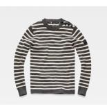 G-Star Dadin stripe r knit l/s d13279-b155-a378 grijs