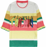 10 Feet Pullover with lurex multi colour stripes