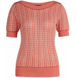 King Louie Audrey top mille feuille rood