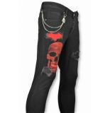 Mario Morato Skinny heren jeans zwart