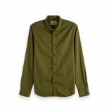 Scotch & Soda Classic garment dyed shirt groen