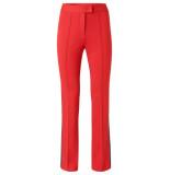 YAYA Jersey flared trousers rood