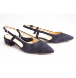 Barnello 8213 pumps open hiel blauw