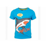 Someone Shirt korte mouw shark jawsome kobalt blauw