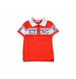 ICEBERG Polo korte mouw met wit rood
