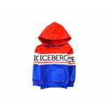 ICEBERG Hooded sweater colourblock bab kobalt blauw