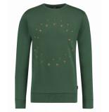Kultivate 1901011012 399 sweater roundabout dark ivy groen