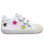 Shoesme Veterschoenen sterren wit