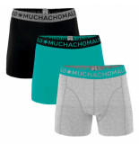 Muchachomalo Men 3-pack short solid/solid rood
