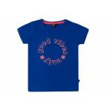 Little Miss Juliette Shirt korte mouw good vibes k blauw