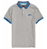 Superdry Sunrise cali pique polo light grey grit grijs