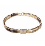 Christian 14 karaat armband met keramiek geel goud