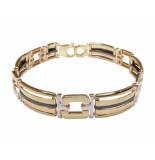 Christian 14 karaat bicolor armband met keramiek geel goud