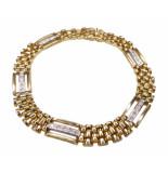 Christian 18 karaats bicolor armband met diamant wit goud