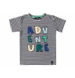 Beebielove Shirt korte mouw gestreept adv zwart