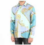 Versace Collection camicie tessuto blauw