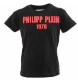 Philipp Plein Junior pp1978 round eck t-shirt ss zwart