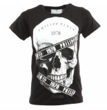 Philipp Plein Junior t-shirt round eck ss skull zwart